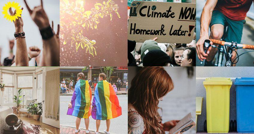 eine Collage aus verschiedenen Bildern unseres Newsletters