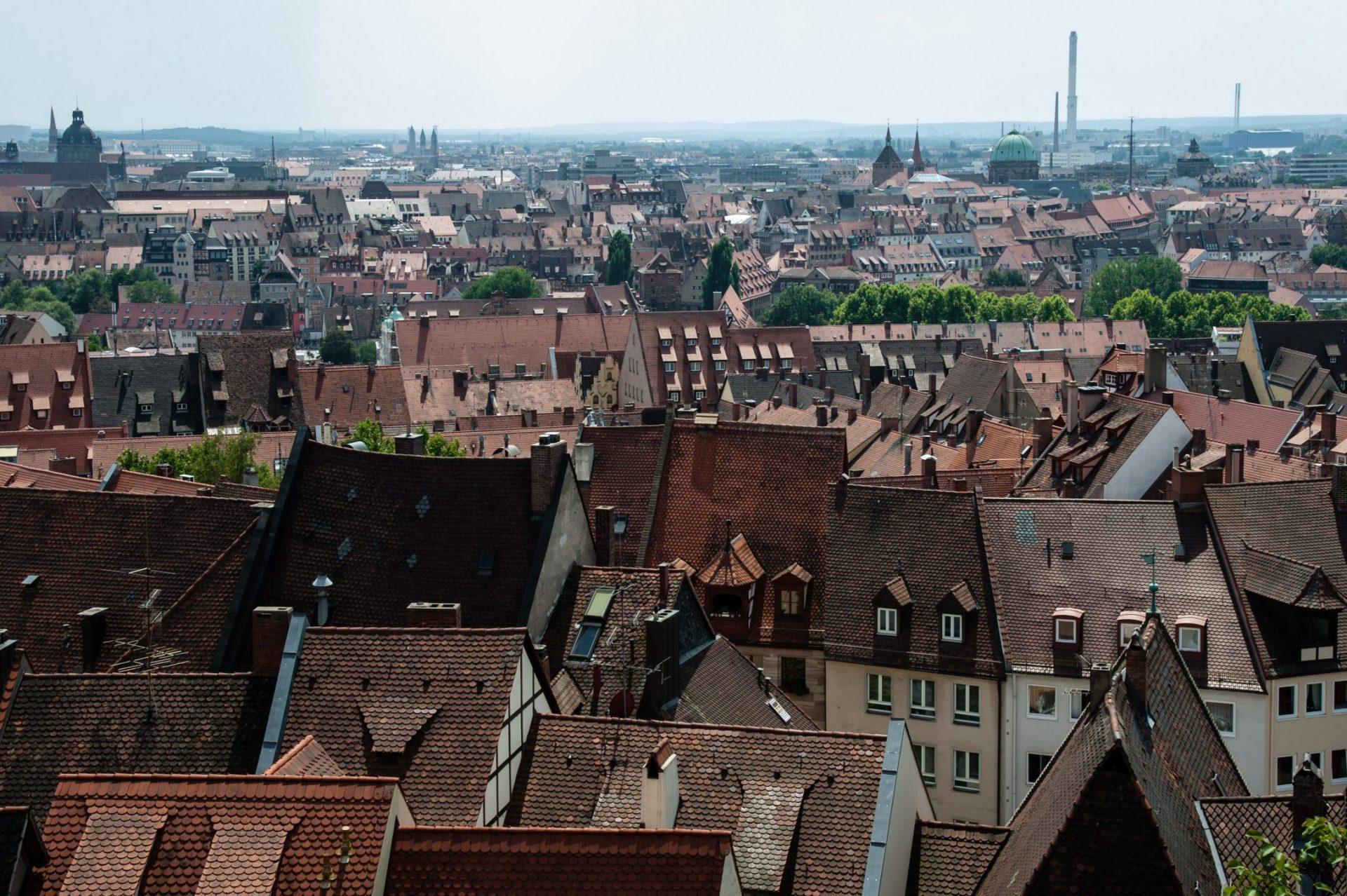 Blick über die Dächer der Altstadt Nürnbergs