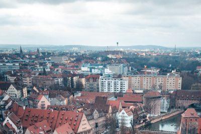 Blick über die Stadt Nürnberg