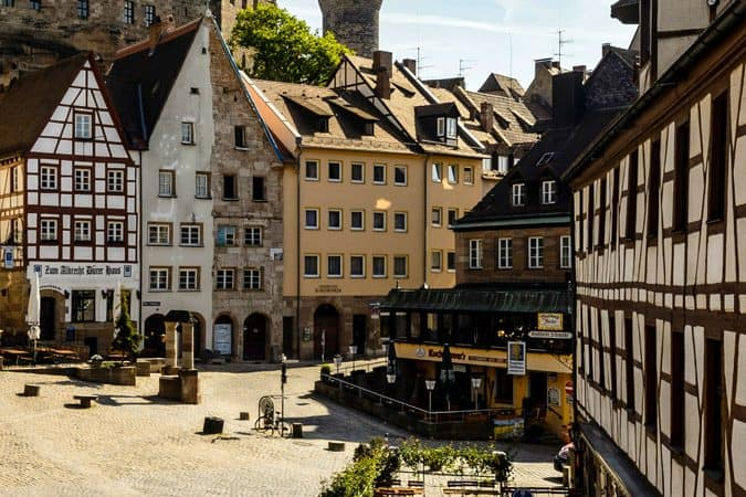 Blick über den Tiergärtnertorplatz Nürnberg