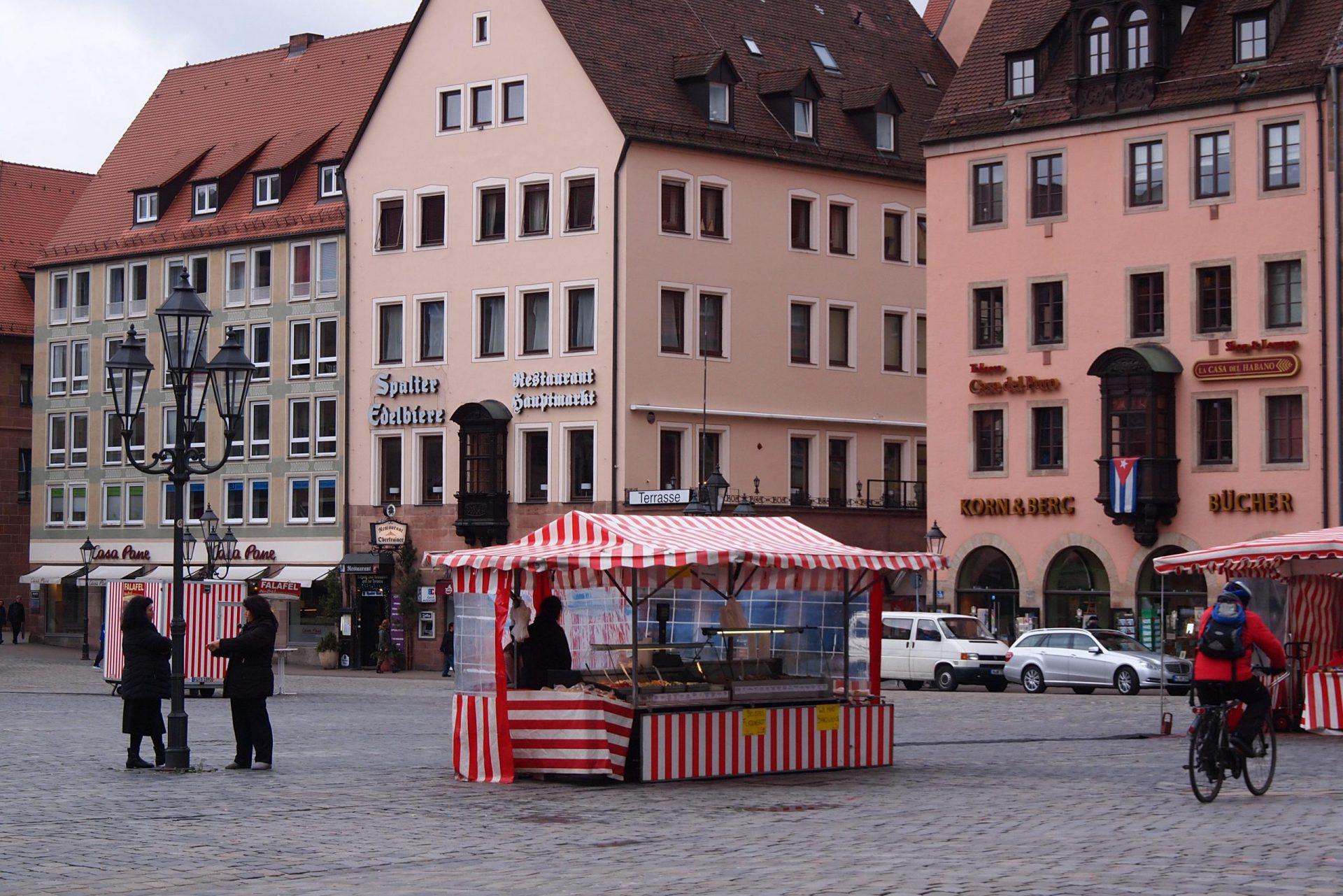 Blick über den hauptmarkt Nürnberg