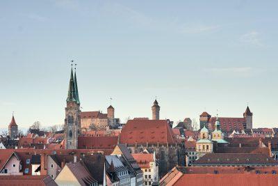 Ansicht Rathaus, Sebald-Kirche, Burg